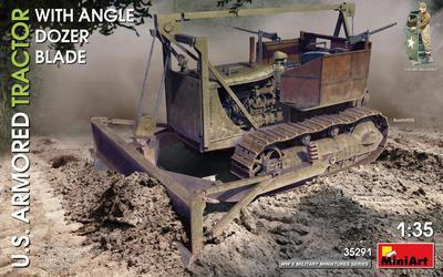 U.S. Armored Tractor with Angle Dozer Blade + 1fig.  - 1