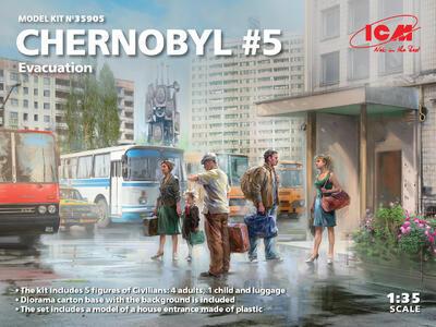 Chernobyl#5. Evacuation (4 adults, 1 child and luggage)   - 1