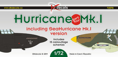 Hurricane Mk.I, part Four, decals - 1