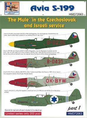 Avia S-199 - The Mule in the Czechoslovak and Israeli service part 1 - 1