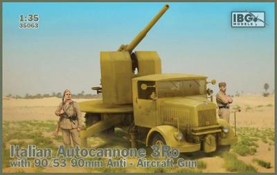 Italian Autocannone 3Ro with 90/53 90mm Anti Aircraft Gun  - 1