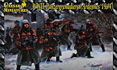 WWII Pnzergrenadiers (Ardennes 1944), 20+ figures