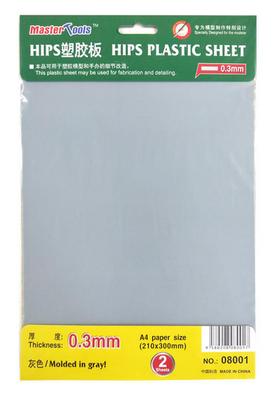 Master Tools HIPS Plastic Sheets  0,3mm 210x300mm