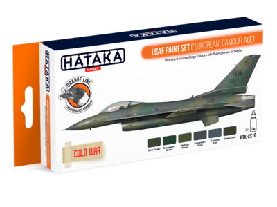 USAF Paint Set (European Camouflage), sada barev - 1