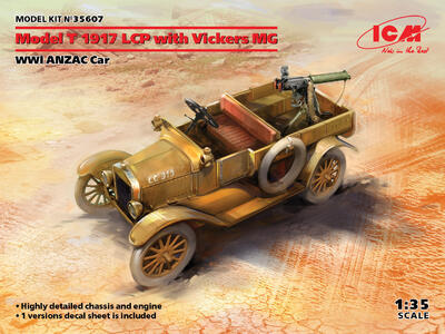 Model T 1917 LCP with Vickers MG, Dead Sea region, Palestine, 1918