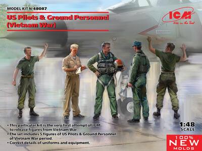 US Pilots & Ground Personnel (Vietnam War, 5 figures)