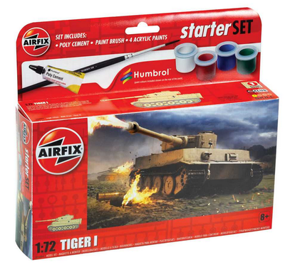 Tiger 1 (1:72), starter set, lepidlo, barvy..