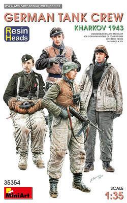 GERMAN TANK CREW. KHARKOV 1943. RESIN HEADS - 1