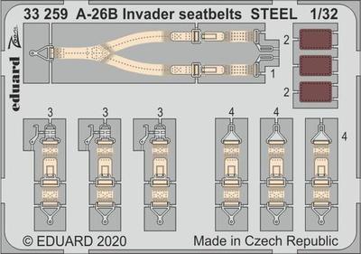A-26B Invader upínací pásy OCEL 1/32    lept