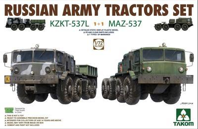 Russian Army Tractor Set, KZKT-537L + MAZ-537