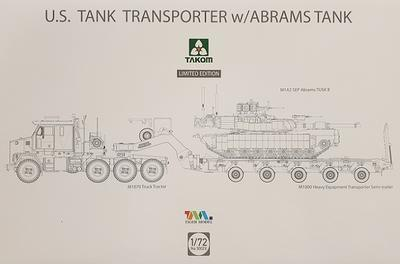 U.S. Tank Transporter M1070/M1000 Heavy w/Abrams Tusk II Tank M1A2 SEP Limited Edition