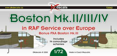 Boston Mk.II/III/IV on RAF Service over Europe