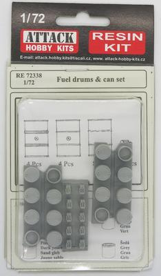 Fuel Drums  & can set, resin - 1