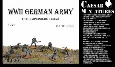 WWII German Army (Sturmpioner Team) , 20 fig.