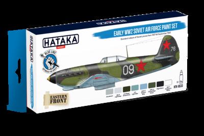 Early WW2 Soviet Air Force Paint Set, set barev - 1
