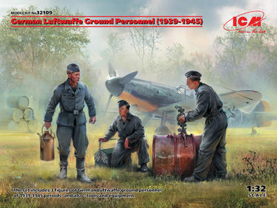 German Luftwaffe Ground Personnel (1939-1945) (3 figures) - 1