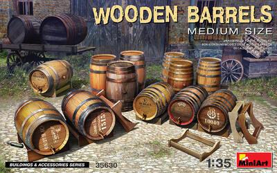 WOODEN BARRELS. MEDIUM SIZE - 1