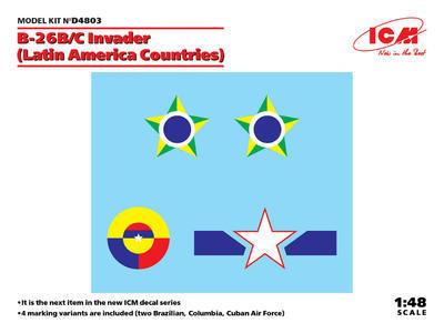 B-26B/C Invader (Latin America Countries) Decals