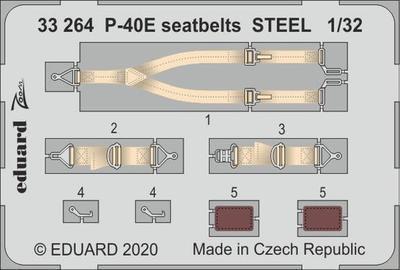 P-40E upínací pásy OCEL 1/32    lept