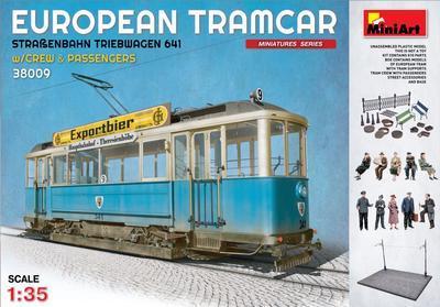 European Tramcar strassenbahn Triebwagen 641 with crew & passengers 1:35 - 1