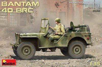 Bantam 40 BRC, Car and 5 Figures