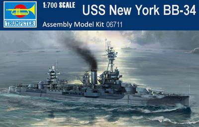 USS New York BB-34 1:700