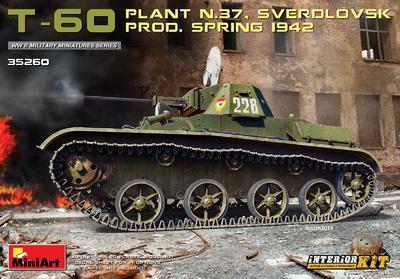 T-60 Plant N.37 Sverdlovsk Prod. Spring 1942 - 1