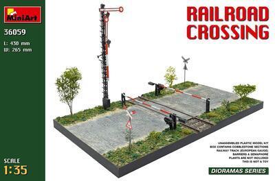 Railroad crossing (European Gauge Railway tracks)