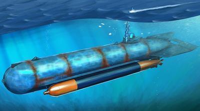 German Molch Midget Submarine 1:35