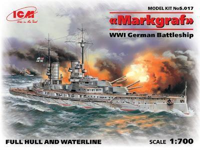 Markgraf WWI German battleship 1:700