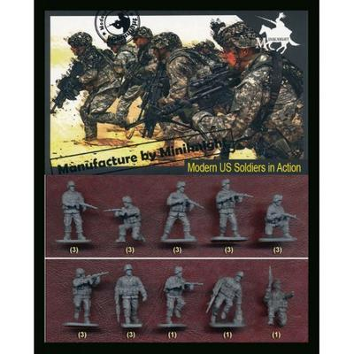 Modern US Soldiers im Action, 24 fig.