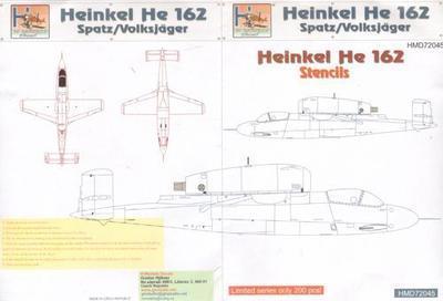Heinkel He 162 - Volksjager - Stencils