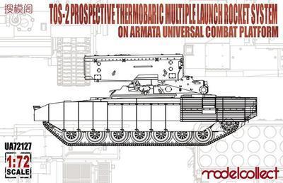 TOS-2 Prospective Thermobaric MLRS on Armata Univrsal Combat Platform