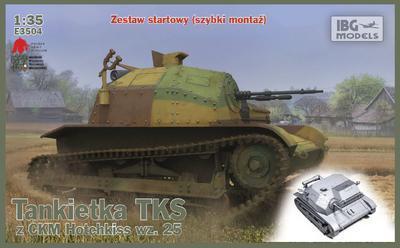 TKS Polish Tankette with KM,  snadné sestavení modelu.