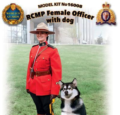 RCMP Famale Office with dog