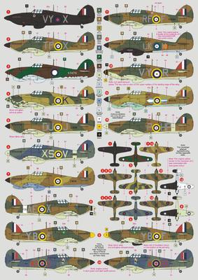 Hurricane Mk.I, decals - 2