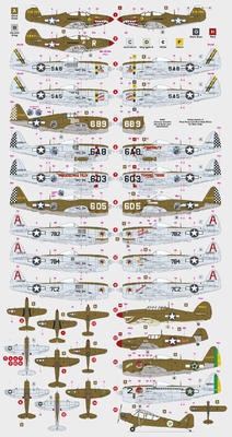 350th Fighter Group, Decals - 2