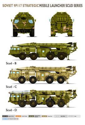 Soviet 9P117 Strategic Missile Luncher SCUD C  - 2