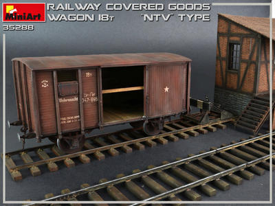 "Railway Covered Goods Wagon 18t "" NTV"" Type - 2"