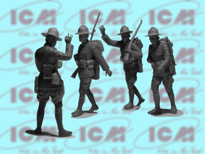 """Standard B """"Liberty"""" with WWI US Infantry - 2"""