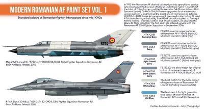 Modern Romanian AF Paint Set, sada barev - 2