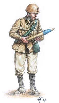 ITALIAN 90/53 GUN with CREW (1:72) - 2
