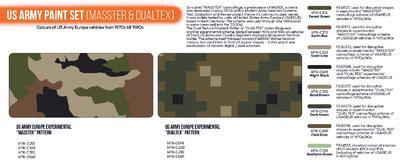 US Army Paint Set (Masster & Dualtex) - 2