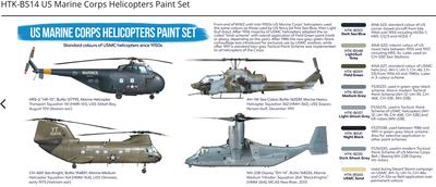 US Marine Corps Helicopters Paint Set, sasa barev - 2