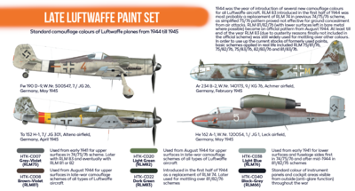 Late Luftwaffe Paint Set, sada barev - 2