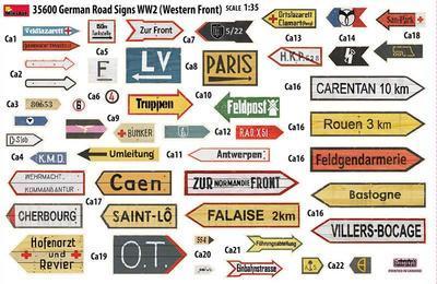 Road Sings WW2 North Africa - 2