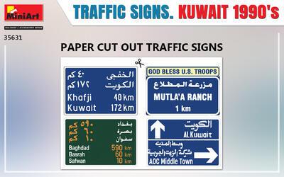 TRAFFIC SIGNS. KUWAIT 1990's - 2