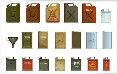 Allies Jerry Cans Set WWII - 2