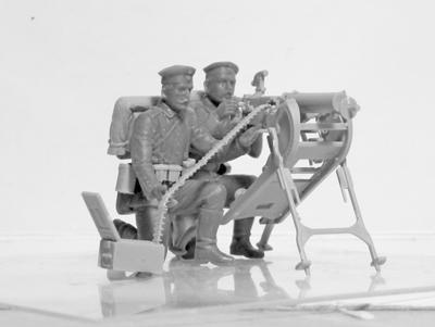WWI German MG 08 MG Team - 2