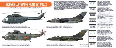 Modern Luftwaffe Paint Set Vol.2, set barev - 2